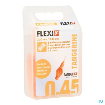 Flexi Orange Borsteltje Ultra Fine Interdentaal 6