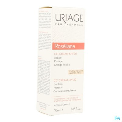 Uriage Roseliane Cc Cream Ip30 Tube 40ml