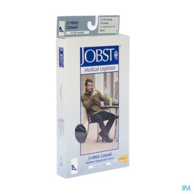 Jobst For Men Casual K1 15-20 Ad Black Xl 1p