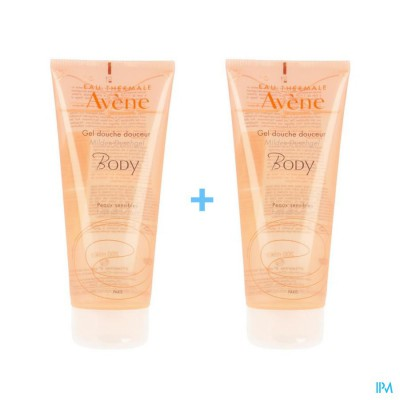 Avene Douchegel Zacht 2x200ml 2e -50%